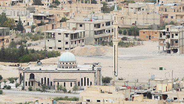Вид на центральную часть современной Пальмиры