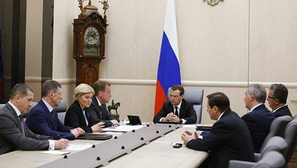 Премьер-министр РФ Д. Медведев провел совещание с вице-премьерами РФ. Архивное фото