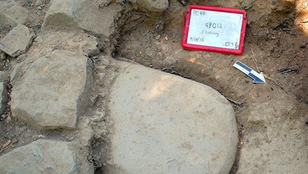 Стела с надписью на этрусском языке, погребенная в основании храма 2500 лет назад