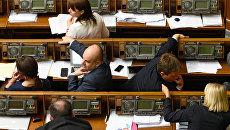 Заседание Верховной Рады в Киеве.Архивное фото