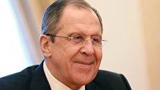 Министр иностранных дел РФ С. Лавров провел ряд встреч в Москве. Архивное фото