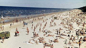 Пляж на Рижском взморье