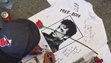 Поклонники Принса в память о музыканте танцевали и пели его песни в Нью-Йорке
