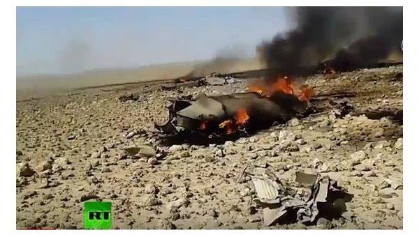 В интернете появилось видео якобы с места крушения МиГ-23 в Сирии
