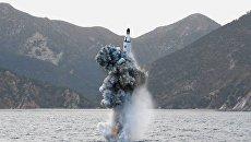 Пуск баллистической ракеты КНДР, 24 апреля 2016. Архивное фото