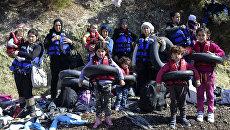 Сирийские беженцы в Чанаккале, Турция. Архивное фото