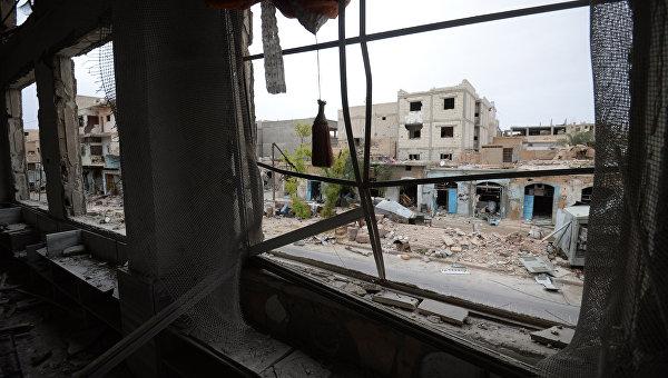 Разрушенные помещения в Сирии. Архивное фото