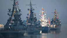Корабли Балтийского флота участвуют в репетиция военно-морского парада к Дню ВМФ в Балтийске. Архивное фото