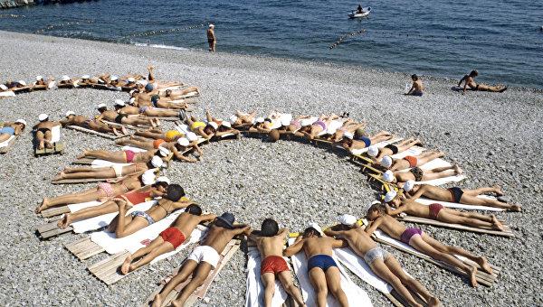 Фото артека детей на пляже