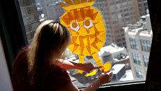 Креативные иллюстрации бумагами для заметок в Нью-Йорке