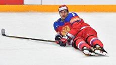 Игрок сборной России и Вашингтон Кэпиталс Александр Овечкин. Архивное фото