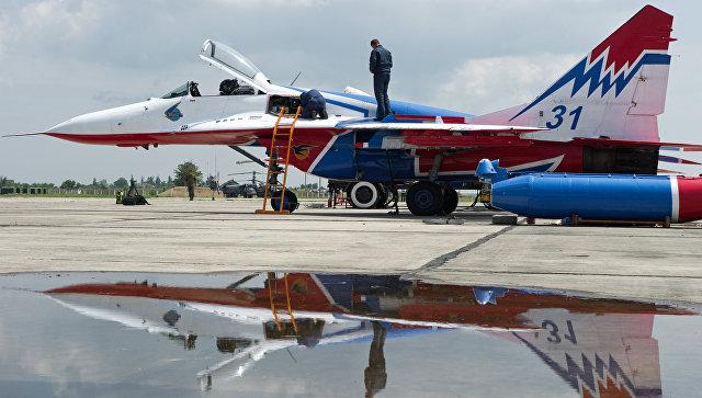 Самолет пилотажной группы Стрижи. Архивное фото