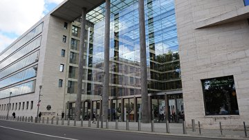 La costruzione del Ministero degli Esteri tedesco a Berlino.  foto d'archivio