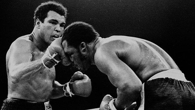 Бой между Мохаммедом Али и Джо Фрейзером в Маниле Филиппины