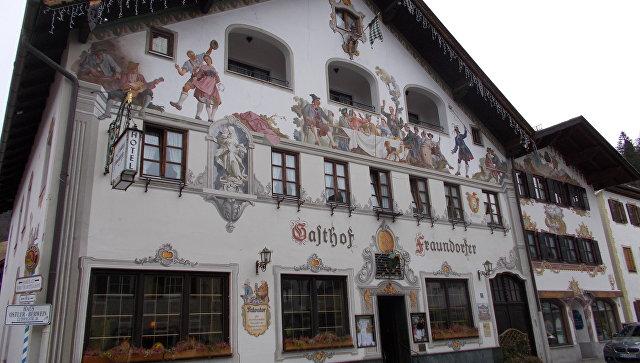 Дома Партенкирхен в Баварии. Архивное фото