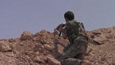 Наступление курдов на позиции боевиков ИГ в сирийском городе Манбидж