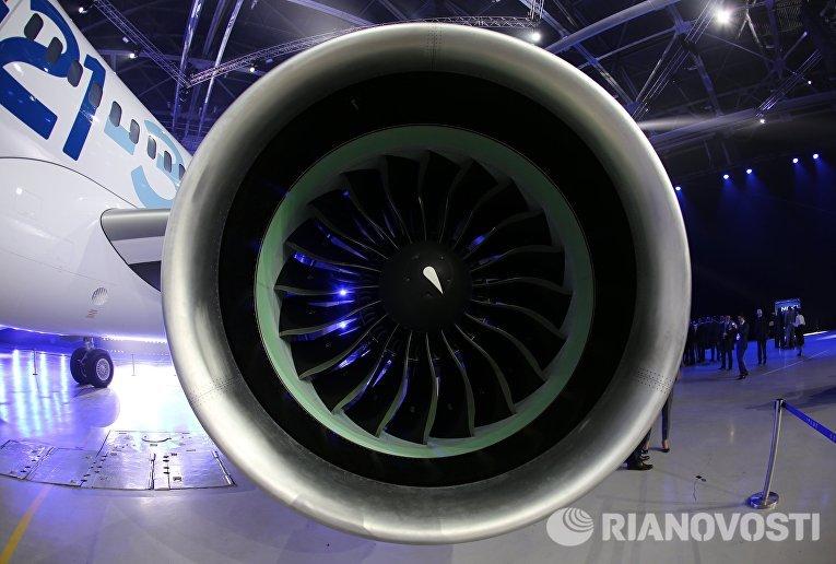 Выкатка нового пассажирского самолета МС-21 в Иркутске