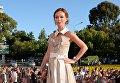 Актриса Елена Захарова на церемонии закрытия 27-го Открытого российского кинофестиваля Кинотавр