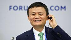 Основатель крупнейшей китайской интернет-компании Alibaba Джеку Ма на XX Петербургском международном экономическом форуме