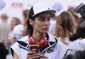Генеральный продюсер Матч ТВ Тина Канделаки во время благотворительного забега SPIEF Race в рамках XX ПМЭФ