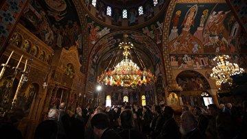 Предстоятели православных церквей, собравшиеся на Святой и Великий собор на Крите