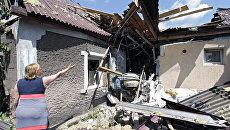 Последствия обстрела Донецка. Архивное фото