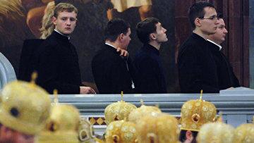 Божественная литургия в преддверии Архиерейского собора Русской Православной Церкви