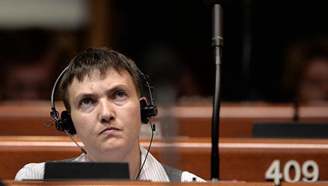 Надежда Савченко на заседании ПАСЕ. Архивное фото