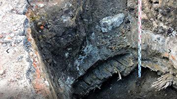 Кабак XVIII века, найденный при проведении ремонтных работ на Театральной площади