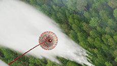 Тушение лесных пожаров с воздуха. Архивное фото