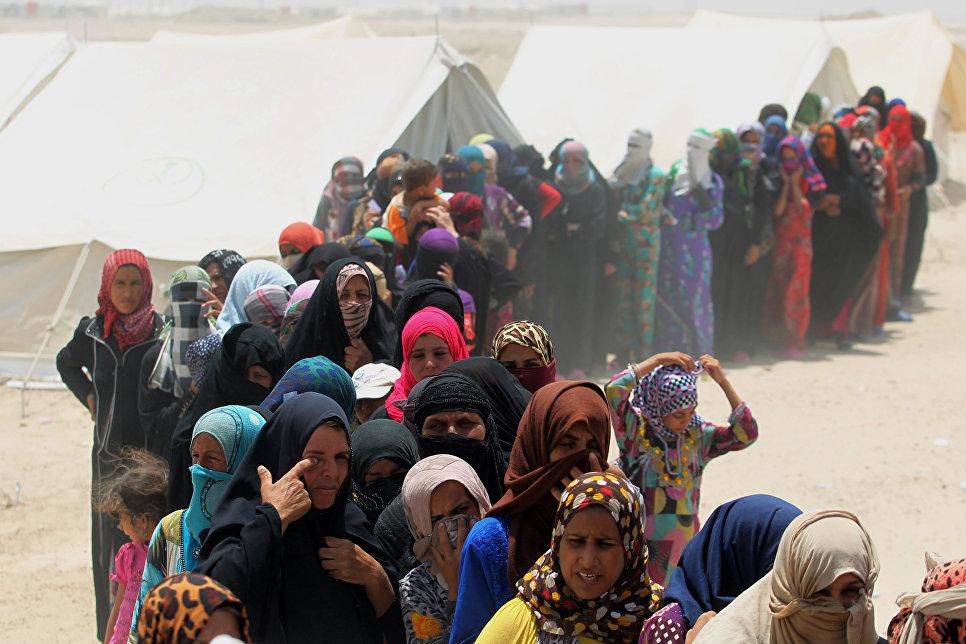 Беженцы из города Эль-Фаллуджа, Ирак