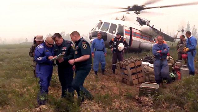 Поиск пропавшего в Иркутской области самолета Ил-76 МЧС России