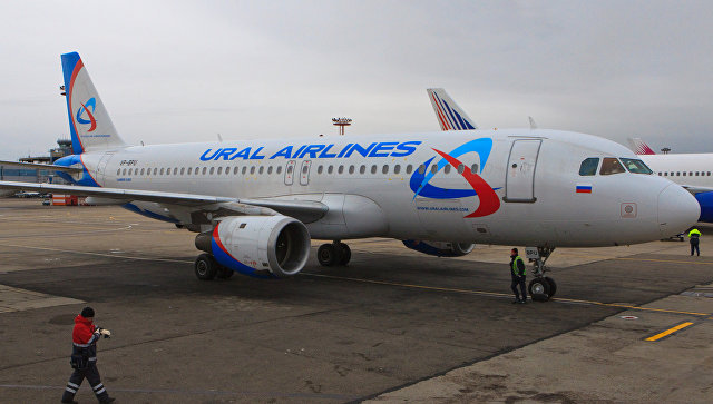 Самолет компании Уральские авиалинии. Архивное фото