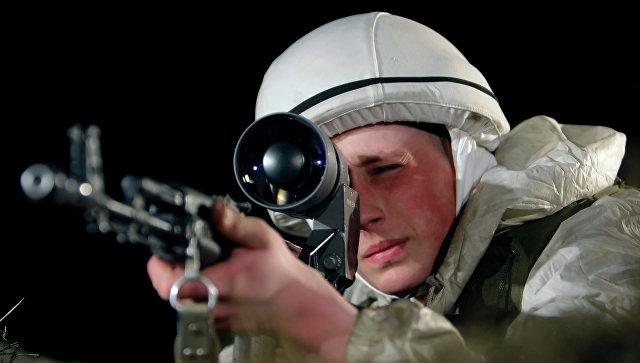 Стрельба из снайперской винтовки. Архивное фото