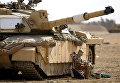 """Танк """"Челленджер 2"""" воорруженных сил Великобритании в Басре, Ирак"""