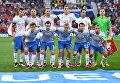 Игроки сборной России перед матчем Евро-2016 со сборной Уэльса