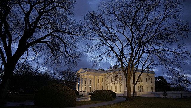 Здание Белого дома в Вашингтоне, США. 24 февраля  2016