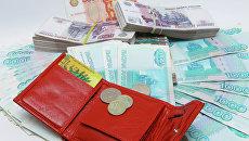 Рублевые купюры разного достоинства. Архивное фото