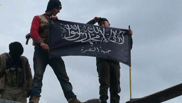 I militanti del gruppo terroristico di al-Nusra Dzhebhat in Siria.  foto d'archivio