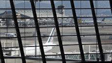 Вид на аэропорт Ниццы. 2015 год