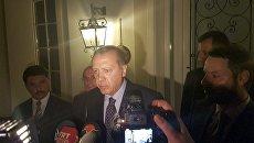 Il presidente turco Erdogan Rezhdep parlare con la stampa, con la località turca di Marmaris.  16 lug 2016