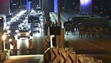 La situazione sul ponte sul Bosforo a Istanbul.  16 lug 2016