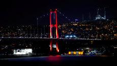 Il ponte sul Bosforo a Istanbul.  16 lug 2016