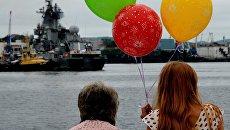 Встреча гвардейского ракетного крейсера Варяг