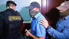 Заместитель начальника управления собственной безопасности СК РФ Александр Ламонов в Лефортовском суде Москвы