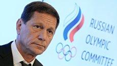 Александр Жуков после заседания Исполкома Олимпийского комитета России в Москве. Архивное фото