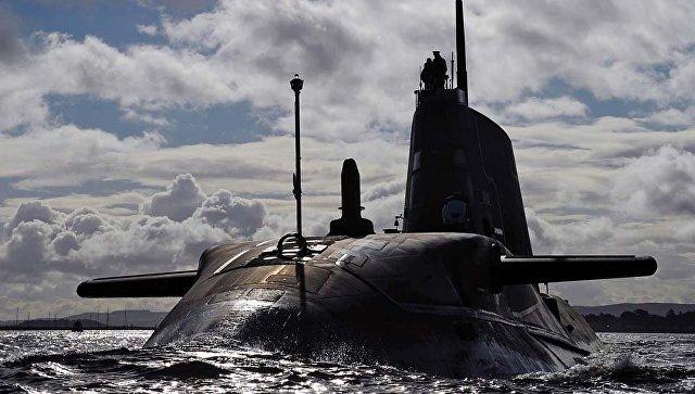 Британская атомная подводная лодка Ambush. Архивное Фото.