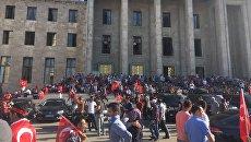 Выступления жителей Анкары в поддержку Эрдогана