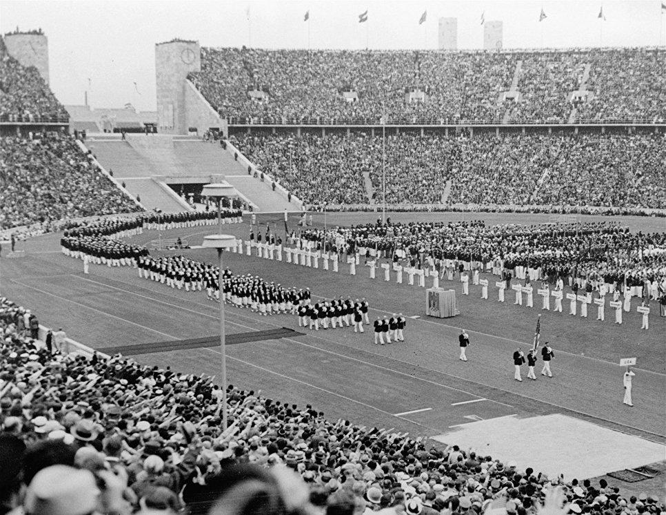 История Летних Олимпийских игр РИА Новости  ap photoОткрытие летних Олимпийских игр в Берлине 1936 год