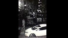 Убийство молодых людей на парковке в Москве попало на видео